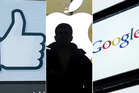 Facebook, Apple and Google are in Labour's crosshairs for alleged tax avoidance. Photo / AP