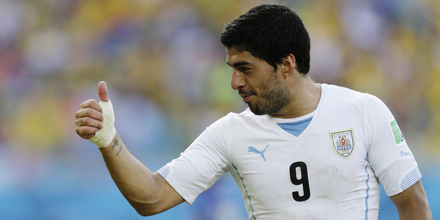 Uruguay's Luis Suarez. Photo / AP