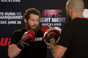 "Nate Marquardt says he's ""prepared for the best James Te Huna"". Picture / Brett Phibbs"