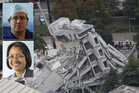 Lydia Johns-Putra and Bruce Curran operated beneath the quake rubble. Photos / APN, File
