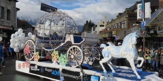 Thousands have turned up to the street parade at this year's Winter Festival. Photo / Tracey Roxburgh
