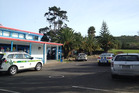 Emergency services respond after a boy was stabbed at the Pacific Christian School. Photo / Sarah Ivey