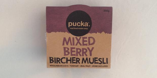 Pucka Mixed Berry Bircher Muesli. $4.99 for 200g.