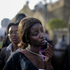 'Farewell Mandela' - A woman is turned away disappointed at the close of the third and final day of the lying-in-state of former South African president Nelson Mandela. Photo / Markus Schreiber
