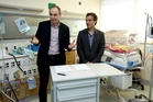 Orion Health chief  Ian McCrae (left) with Dale Bramley, CEO of the Waitemata District Health Board, say their collaboration will help hospitals to become paperless. Photo / Dean Purcell