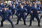 PASSION: The Rotorua police kapa haka group performing the haka pohiri during Te Amo Whakaruruhau opening.   Photo/Ben Fraser