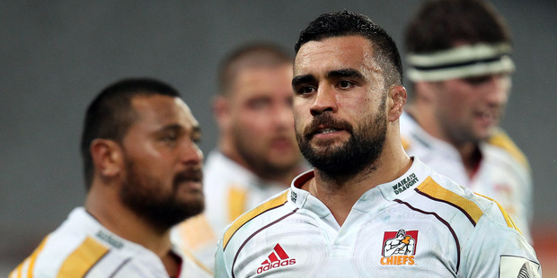 A dejected Liam Messam of the Chiefs leaves the field after their loss to the Highlanders. Photo / Getty Images