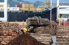 Log prices fell 5 per cent last month as large stockpiles built up at Chinese ports. Photo / Mark Mitchell