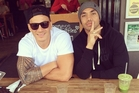 Sonny Bill Williams with NRL buddy Willie Tonga at a Sydney cafe.