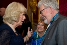 Rolf Harris' fame brought contact with royalty - such as Camilla, Duchess of Cornwall -  in the UK. Photo / AP