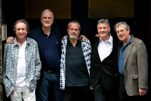 Eric Idle, John Cleese, Terry Gilliam, Michael Palin and Terry Jones prepare for their Monty Python reunion shows. Photo/AP