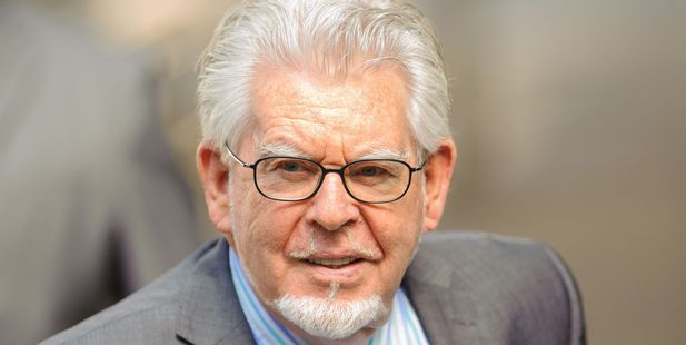 Veteran entertainer Rolf Harris arrives at Southwark Crown Court in London. Photo / AP