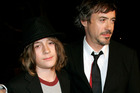 Robert Downey Jr with his son Indio in a photo taken in 2007. Photo/AP