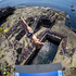 David Colturi of the USA dives from the 28 metre platform at the Serpent's Lair during the third stop of the Red Bull Cliff Diving World Series at Inis Mor, Aran Islands, Ireland. Photo / AP