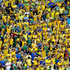 Brazilian fans are in good voice ahead of their team's quarter-final against Colombia in Fortaleza. Photo / Getty Images