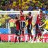David Luiz scores Brazil's second goal with a superb long-range free kick. Photo / Getty Images