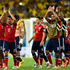 Colombia's players acknowledge their fans at the end of the game. Photo / Getty Images