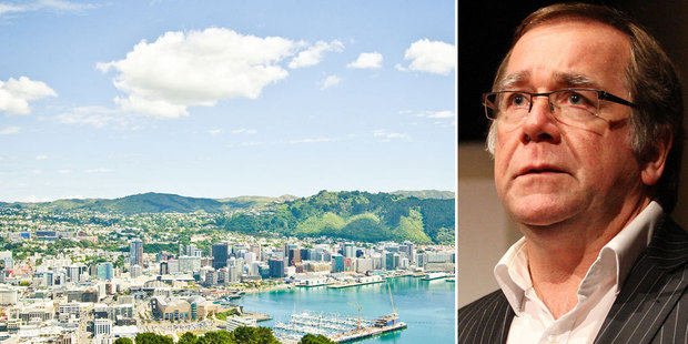 A view over Wellington to the hills of Brooklyn where the alleged attack took place. Right, Murray McCully says the accused diplomat's country should be named. Photo / NZ Herald
