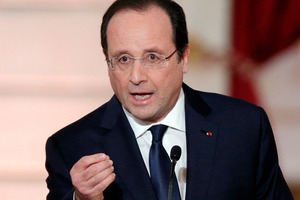 "French President Francois Hollande expressed outrage at ""this abominable drama"" at the Edouard Herriot school in Albi in southern France. Photo / AP"