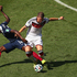 Blaise Matuidi of France, left, challenges Germany's Bastian Schweinsteiger. Photo / Getty Images