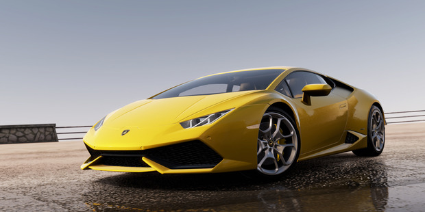 The Lamborghini Huracan has been chosen to front Forza Horizon 2. Photo / Supplied