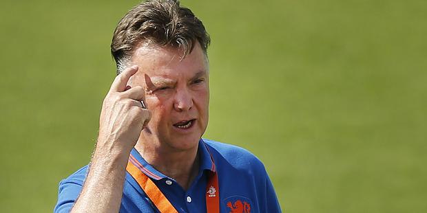 Netherlands coach Louis van Gaal. Photo / AP