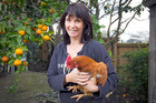 Heather Lowrie from Backyard Chooks says owning hens pays off for those who buy free-range eggs. Photo / Michael Craig