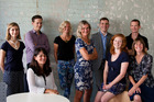 James Griffin (right, rear), with the SBN team: Fiona Stephenson, Alex Williams, Natasha Fromont, Anna Mathieson, Rachel Brown (CEO), Matt Ayers, Julia Jackson, Theresa Gaire (L-R). Photo / Supplied