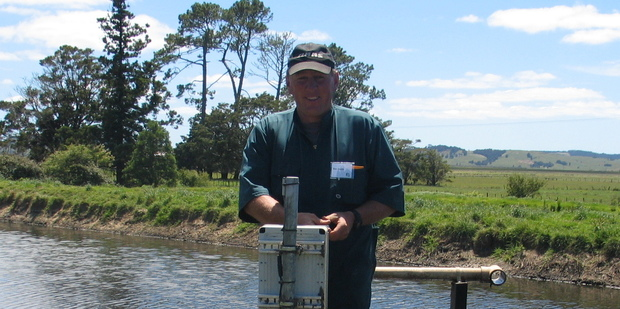 Farmer Ben Smith checks the ReGen data capture system on his Northland property.