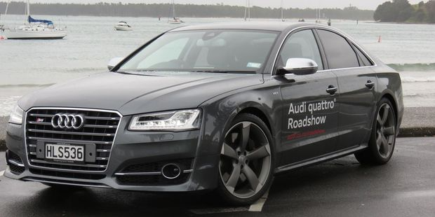The Audi S8 is the first with the clever new Matrix headlights. Picture / Liz Dobson
