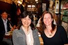 Sarah MacDonald (right) with Junko, her guide in Shinjuku, Tokyo. Photo / Sarah MacDonald