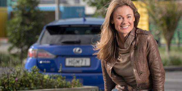 Libby Weaver, Lexus Ambassador. Photographed in Auckland with her Lexus CT200h for Driven. 20 June 2014 NZ Herald photo by Ted Baghurst.