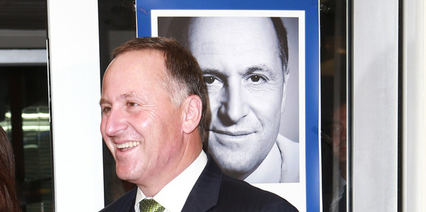 John Key at the launch of his book Key. The Unauthorised Biography.