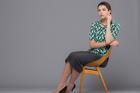 Isabel Marant sweater, $339, from Workshop. Ingrid Starnes skirt, $299. Joanna Campbell necklace, $5335, from Fingers. Stuart Weitzman heels, $520, from Scarpa. Photo / Greg Bowker