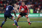 Israel Dagg of the Crusaders makes a break during the round 18 Super Rugby match between the Crusaders and the Blues at AMI Stadium. Photo / Getty Images.