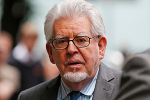 Rolf Harris leaves the Southwark Crown Court in London after being found guilty of 12 counts of indecent assault. Photo / AP