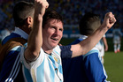 After four matches Lionel Messi has scored four of Argentina's seven goals and produced four man-of-the-match performances in four victories. Photo / AP