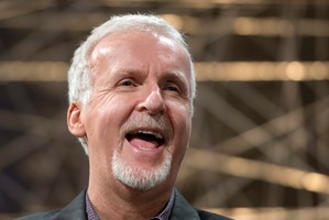 Director James Cameron appears at a news conference. Photo / AP