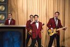 Jersey Boys: Erich Bergen as Bob Gaudio, Vincent Piazza as Tommy DeVito, John Lloyd Young as Frankie Valli and Michael Lomenda as Nick Massi.