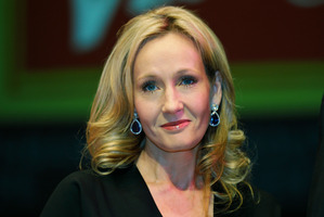 British author JK Rowling poses for photographers at the Southbank Centre in London. Photo / AP