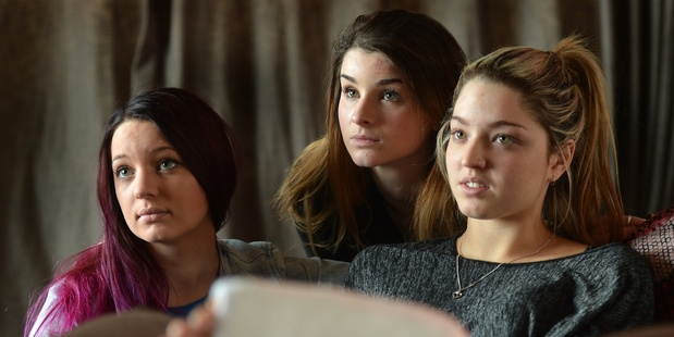Makayla Spiers, Annalise Cooper and Tae Flavell have been subjected to online abuse. Photo / Stephen Jaquiery