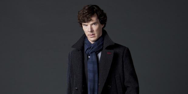 Benedict Cumberbatch as Sherlock Holmes.