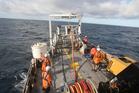 Iron sand sampling off the coast of Patea for Trans-Tasman Resources. Photo / File