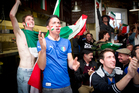 Italian fans during the football match against England during the Fifa World Cup. Photo / Sarah Ivey