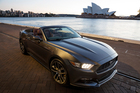 2015 Ford Mustang convertible. The Ford Mustang could take over the reins from the Falcon in the V8 Supercars championship after the Ford Australia stops production of the model. Photo / Supplied