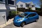 Electric cars such as this Nissan Leaf can be ideal for commuters. Picture / Brett Phibbs