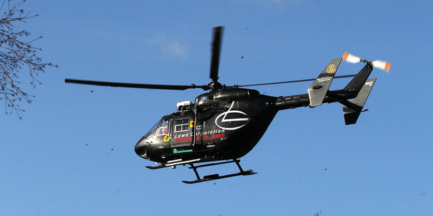 The helicopter was busy yesterday attending many injured people throughout the Bay.