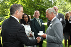 Craig Smith meets the Prince of Wales at Clarence House.