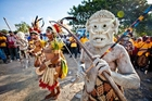 The opening ceremony of the arts and culture festival at Port Moresby. Photo / Faanati Mamea