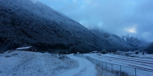 A light dusting of snow covered Arthur's Pass this morning. Photo / Chris Ilton